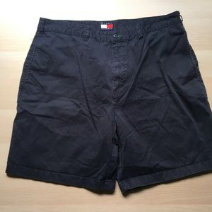 Men's Navy Blue Flat Front Shorts Tommy Hilfiger